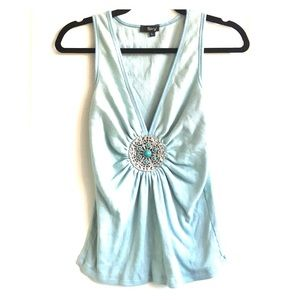 Sky Brand Top Cotton Medallion Blue Large